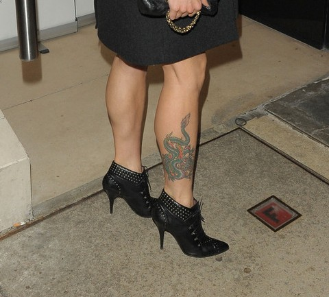 Mel C' Tattoos - Dragon Tattoo for Leg