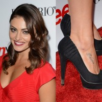 Phoebe Tonkin' Tattoos - Lettering Tattoo on Foot