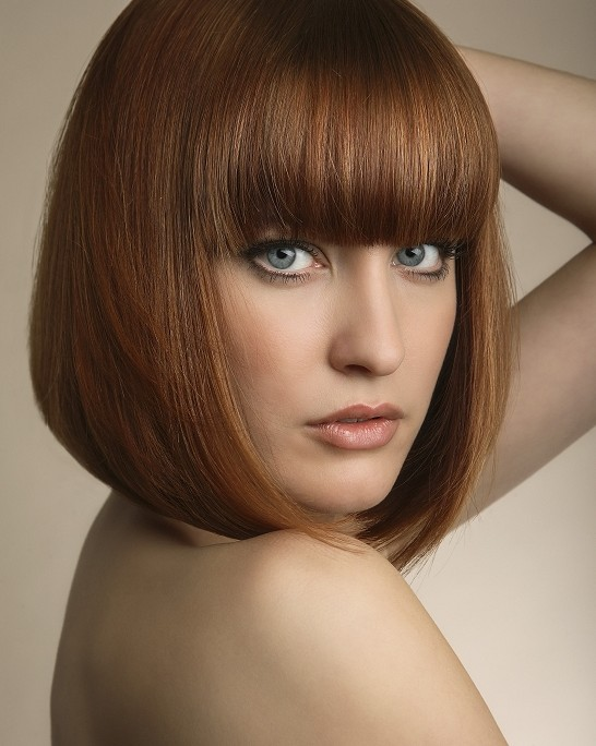 Admirable Short Haircuts With Bangs Side Swept Choppy Amp Straight Across Hairstyles For Women Draintrainus
