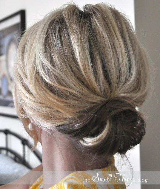 Hairstyles For Short Hair Upto Shoulders : 10 Updo Hairstyles for Short Hair - Easy Updos for Women - Pretty ...