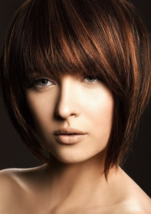 Brilliant Short Haircuts With Bangs Side Swept Choppy Amp Straight Across Short Hairstyles For Black Women Fulllsitofus