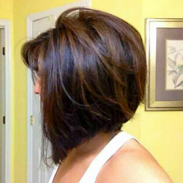 Stacked A-line Bob Haircut with Layers