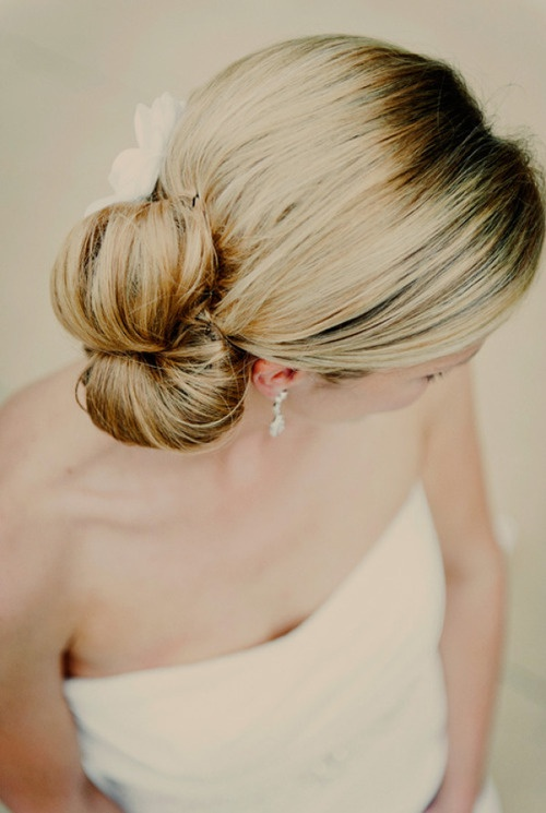 Wedding Hairstyle with Bow Up-do