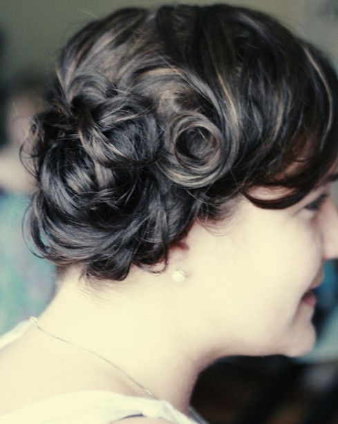 Weeding Updo Hairstyles For Short Hair