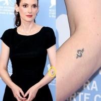 Winona Ryder' Tattoos - Artistic Design Tattoo on Forearm