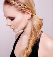 Easy Side Braided Ponytail Hairstyle