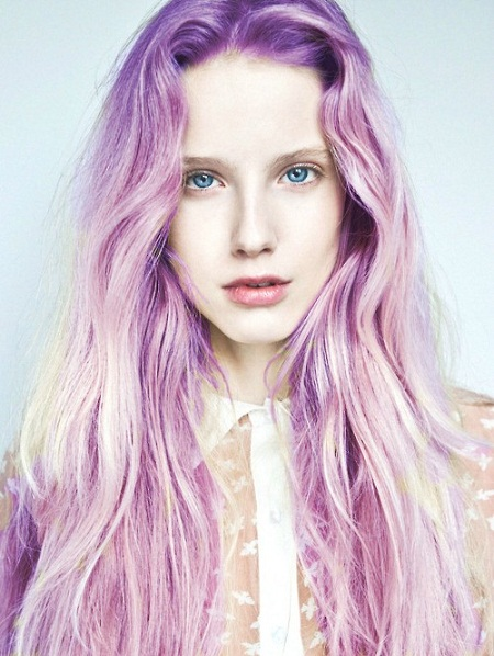Girls With Light Purple Hair Tumblr Light Purple Ombre Hair