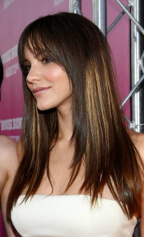 Long Hairstyles For Black Women With Bangs 62