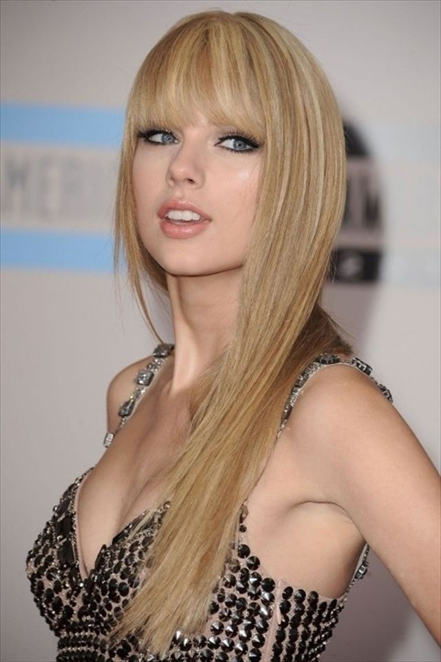 Platinum Long Hair with Bangs