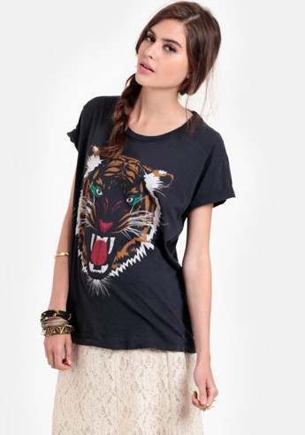 9aa307847223 Lovers + Friends Wildcat T-Shirt ($47). Beyoncé's red shorts come with an  allover leopard print.