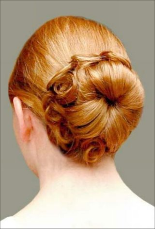 The Flowery Wedding Hairstyle Bun