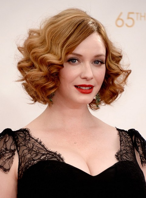 Magnificent 196039S Hairstyle Elegant Short Blonde Curly Hairstyle Pretty Hairstyles For Women Draintrainus