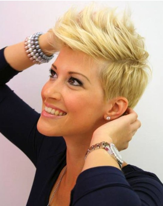 2014 Short Blonde Haircuts - Really Short Hairstyle
