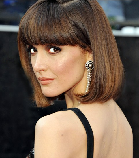 2014 Hairstyle Ideas: Chic Bob Hairstyle with Blunt Bangs for Thick Hair