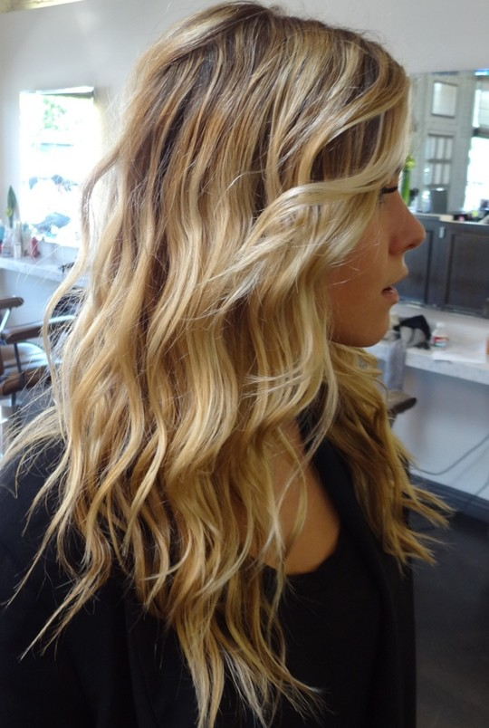 2014 Ombre Hair Trends - Sexy Loose Wavy Hairstyle