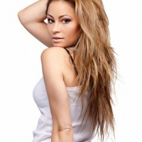 2014 Sexy Long Blonde Hairstyle for Women