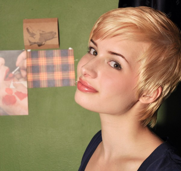 2014 Short Blonde Pixie Cut