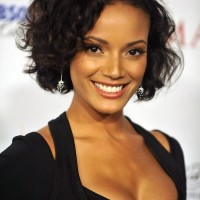 2014 Short Curly Hairstyle Trends: Chic Black Hair with Curls