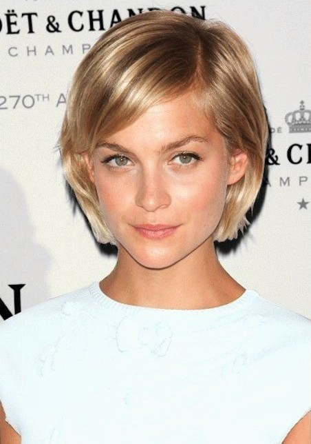 2014 short haircuts leigh lezark�sshort bob cut with side