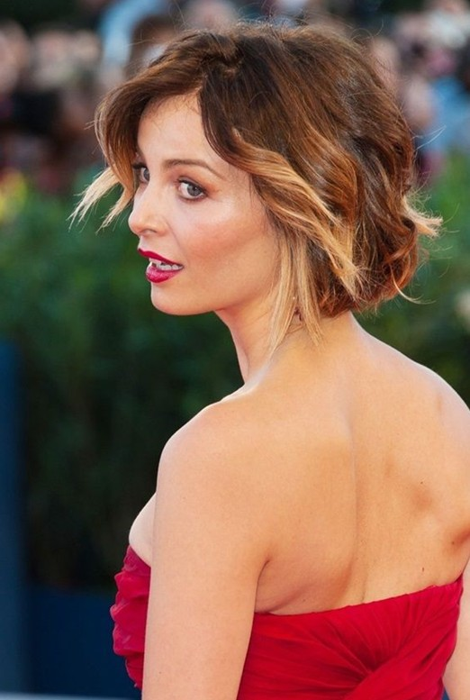 2014 Short Wavy Hairstyles with Bangs