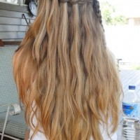 2014 Spring Hair Trends - Cute Waterfall Braid for Summer