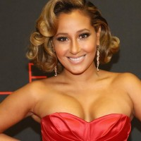 Adrienne Bailon's Short Curly Hairstyle: Vintage