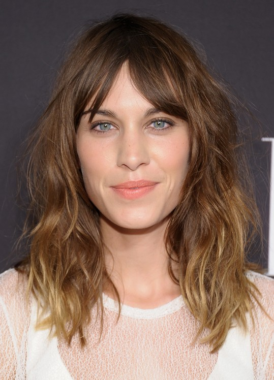 Alexa Chung Shaggy Ombre Hairstyle