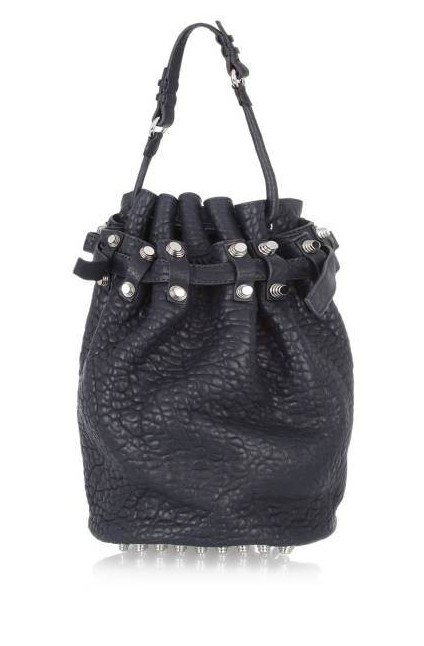 Alexander Wang Diego Textured-Leather Shoulder Bag, $875