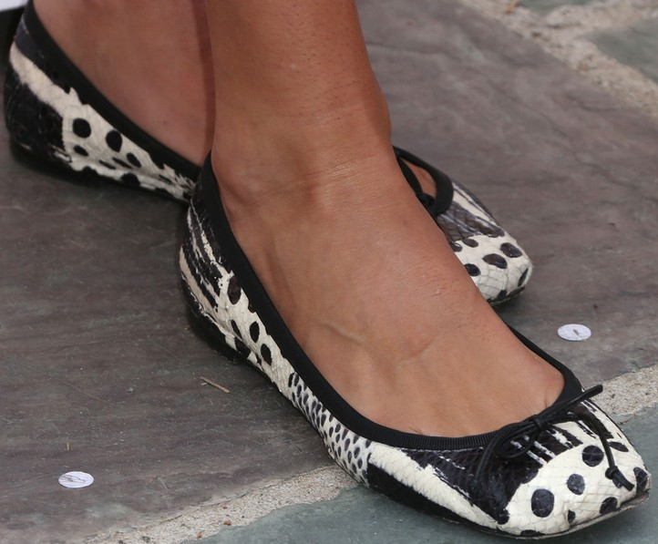 Angie Harmon's Patterned Pointy Flats
