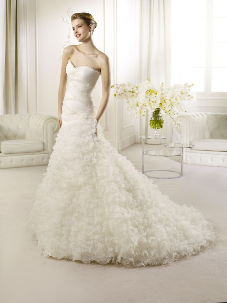 Antibes from La Sposa - Strapless Ruffles Wedding Gown