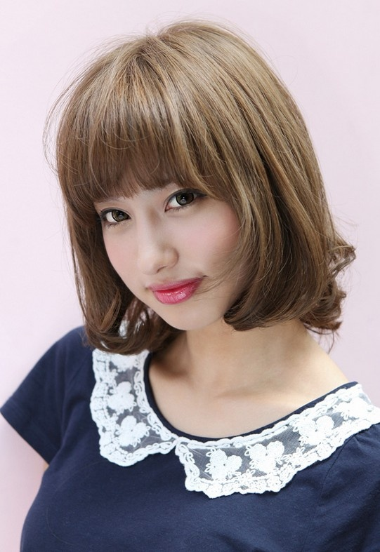 Asian Bob Haircut With Bangs