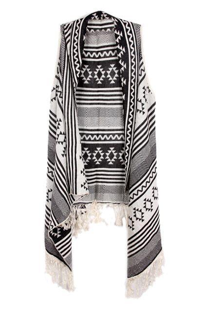Asymmetric Geometric Pattern Knitted Cream Vest - The Latest Street Fashion 2014