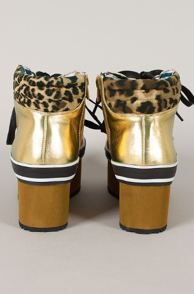 Back View of the Studded Leopard Flatform Sneaker