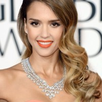 Bark to Light Ombre Hair for 2014 - Loose Wavy Curly Hairstyle
