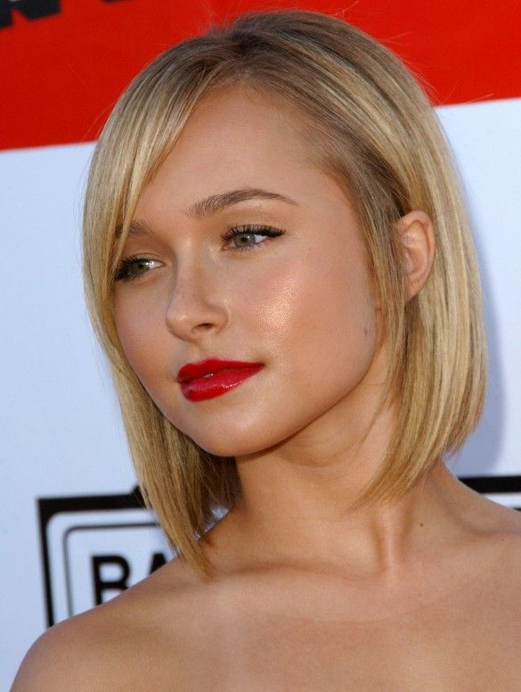 Blond Sleek Bob Haircut