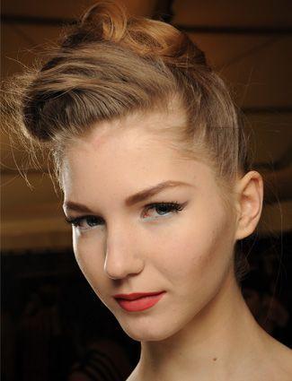Blonde Twisted Retro Short Haircut