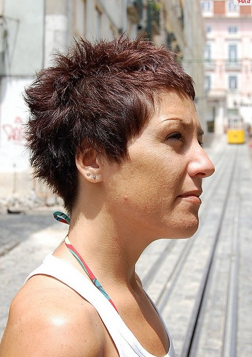 Boyish Short Red Pixie Cut