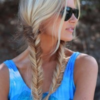 Braided Hairstyle for 2014 - Sweet Fishtail Braid for Summer