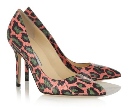 Brian Atwood Cassandra Leopard-Print Elaphe Pumps