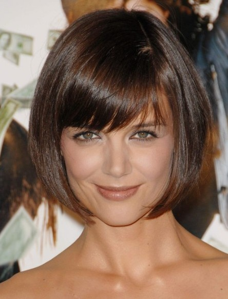 Brown Bob Haircut