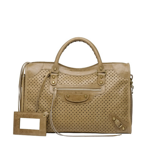 Brown unique satchel