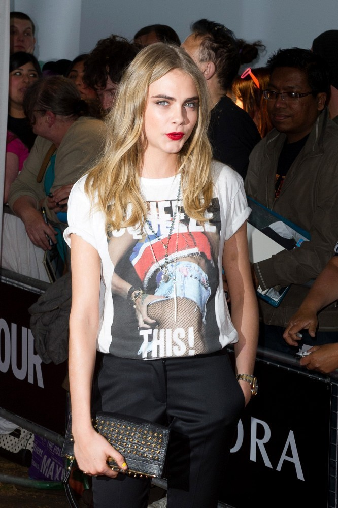 Cara Delevingne's Leather Clutch