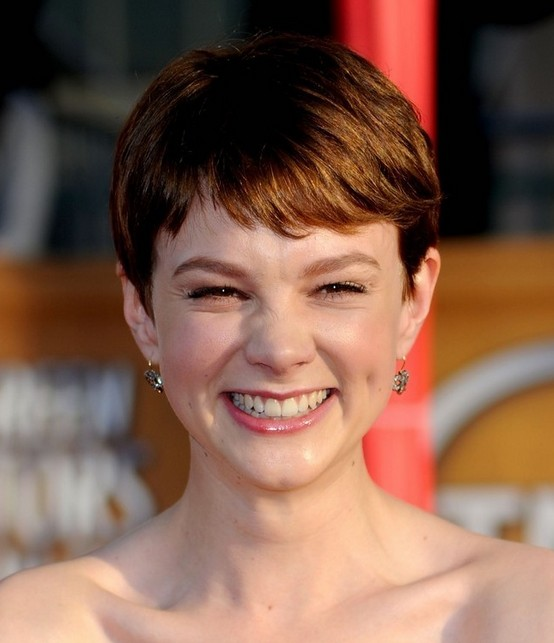 Carey Mulligan Red Pixie Cut