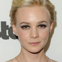 Carey Mulligan Short Haircut: Retro Blond Wavy Swept Back Long Pixie Hair