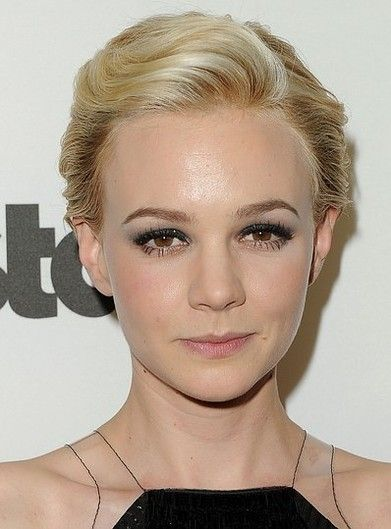 Amazing Carey Mulligan Short Haircut Retro Blond Wavy Swept Back Long Hairstyles For Women Draintrainus