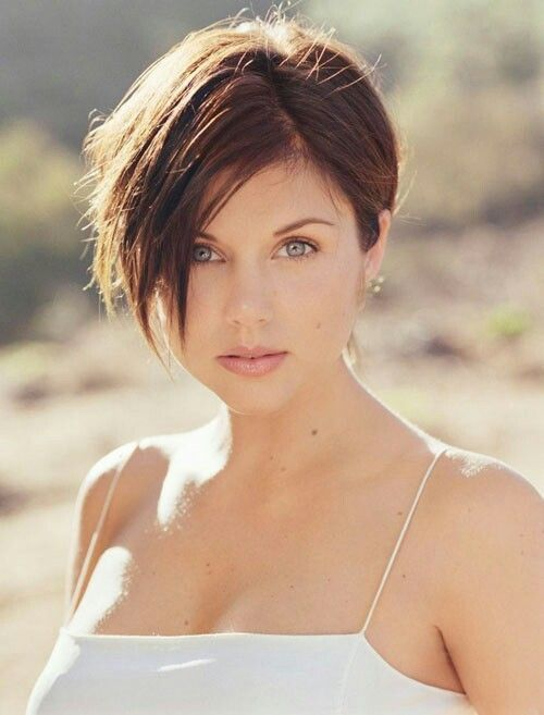 Casual Chopped Short Brunette Hairstyle