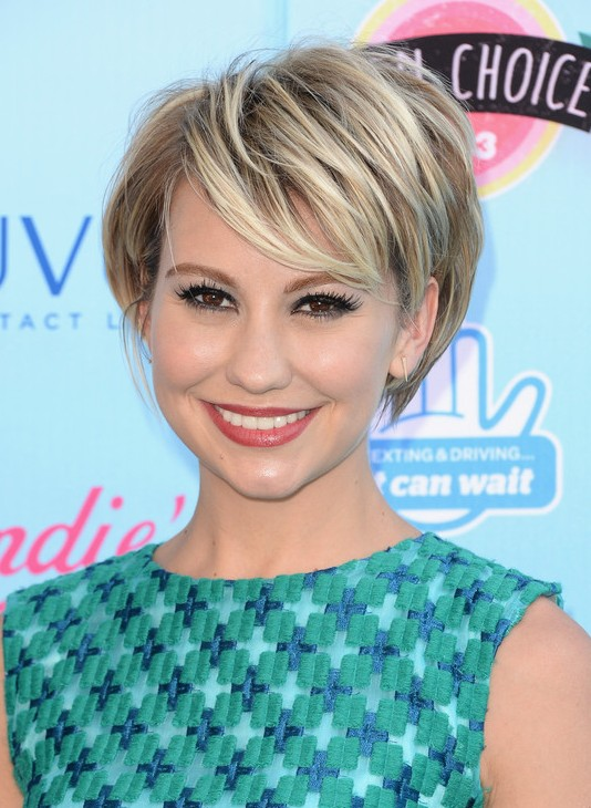 Hairstyles For Short Layered Hair With Side Bangs : ... : Cute Layered Short Hairstyle with Side Swept Bangs - Pretty Designs