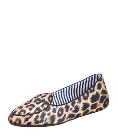 Charles Phillip Shanghai Satin Leopard-Print Smoking Slipper