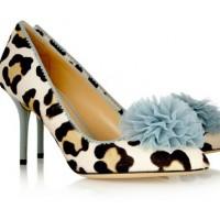 Charlotte Olympia Desirée Leopard-Print Calf Hair Pumps