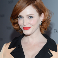 Christina Hendricks' Short Curly Hairstyle:Red And Bright